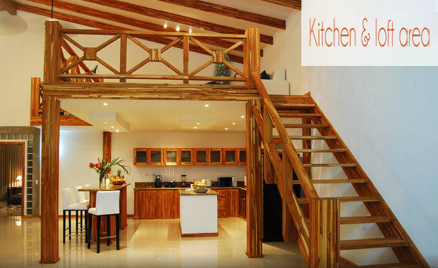 Kitchen and loft.