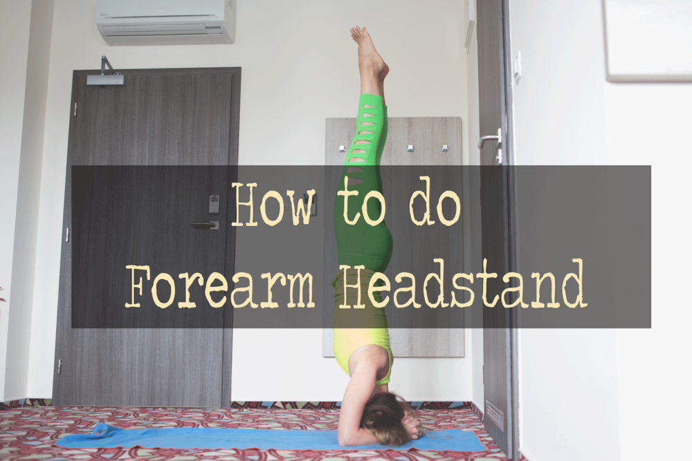 Pin it! Video on how to do forearm headstand Wearing: Kira Grace leggings c/o (similar style for less), lululemon racer tank (review) (similar for less).