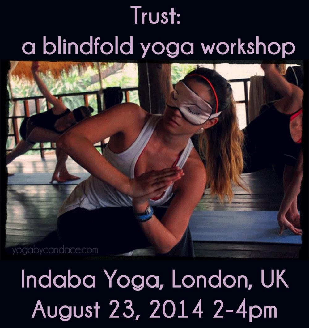 Blindfold yoga workshop in London