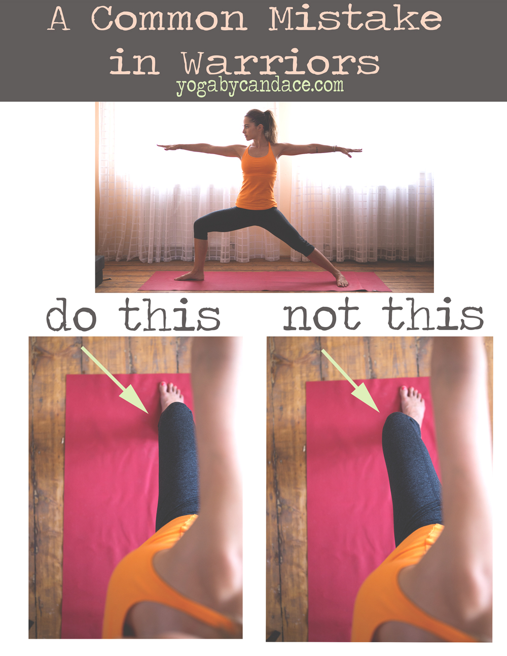 Pin it and save your knees! Wearing: hyde yoga top, zella pants. Using: travel mat (review here)