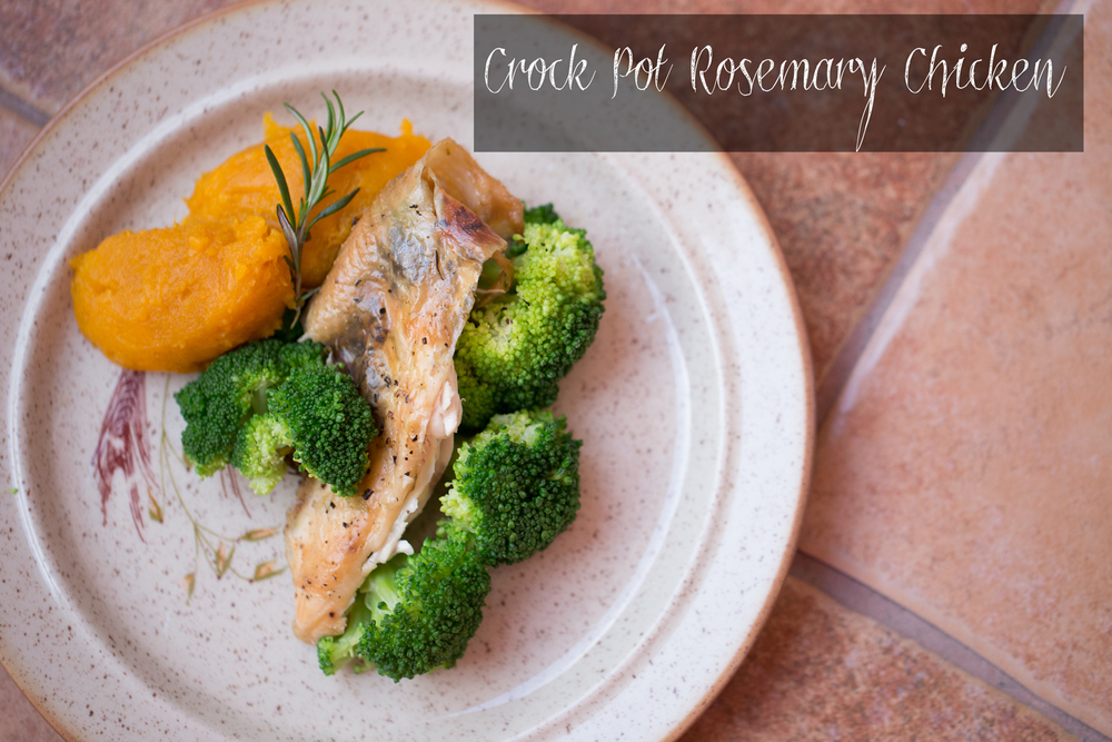 Pin it! Crock pot rosemary chicken