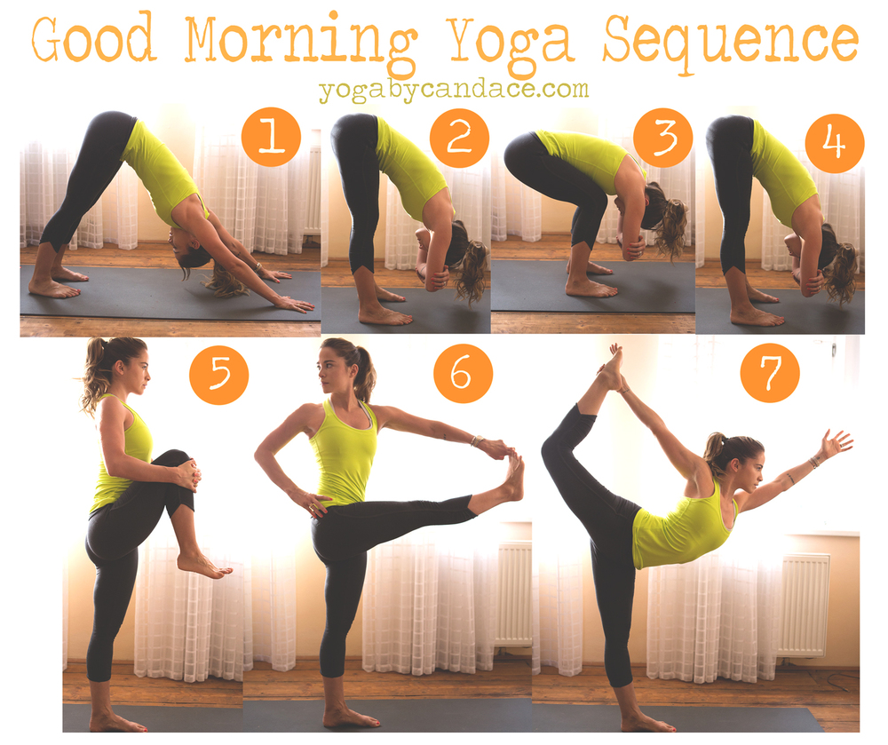 Pin it! A good morning yoga  Wearing: FP leggings, Lululemon tank (similar)