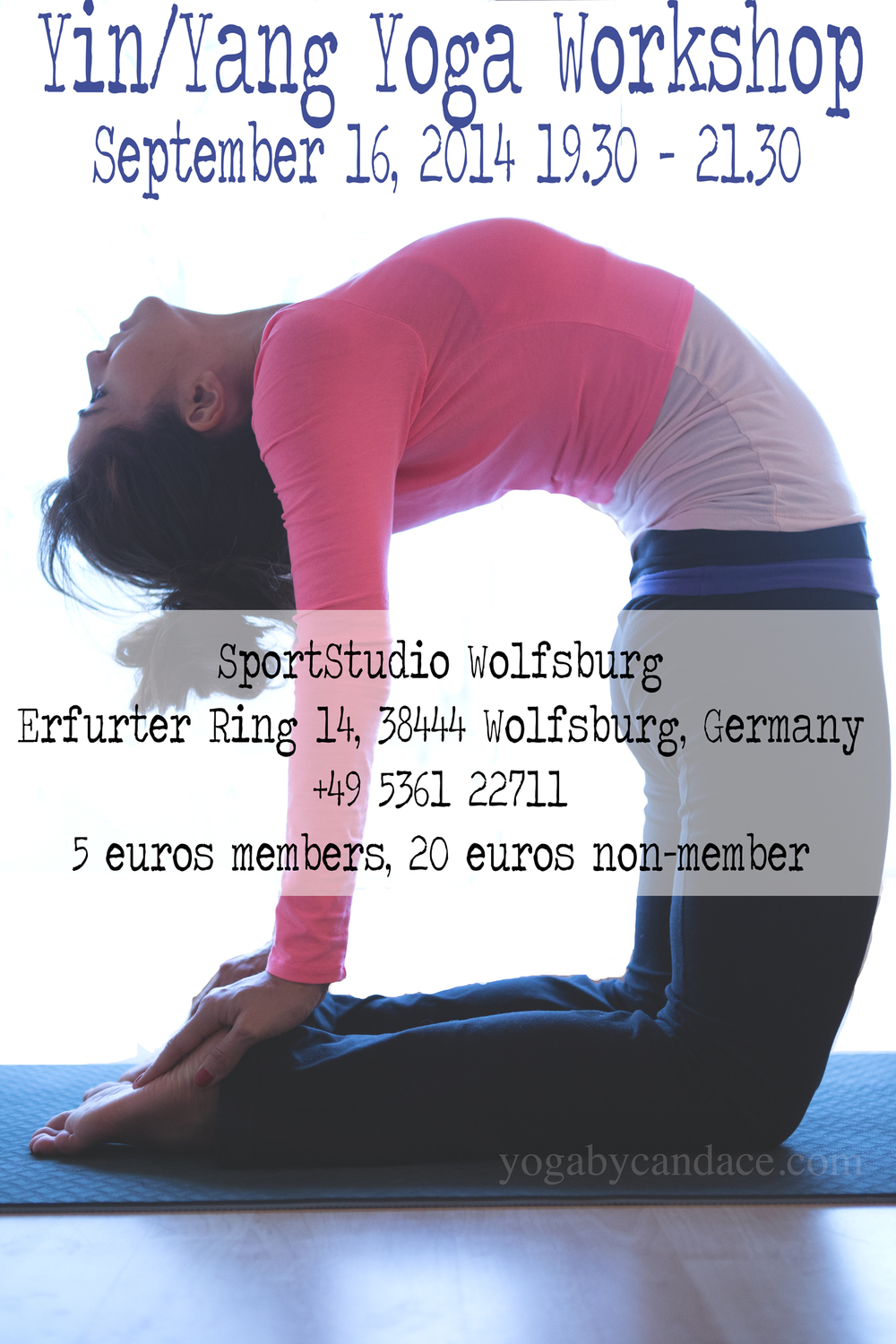 Yoga workshop in Germany