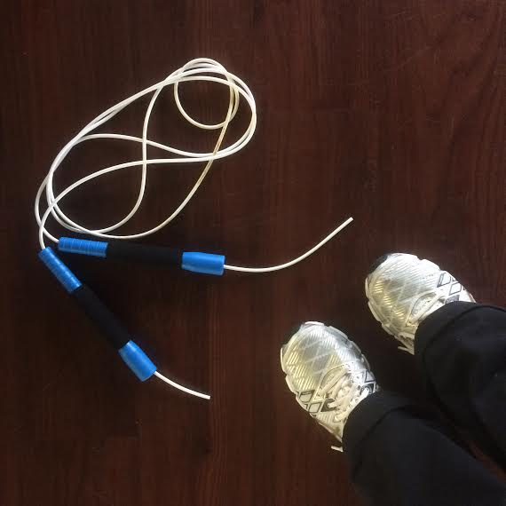 Jump rope workouts are no joke  Using:  Jump rope . Wearing:  Asics sneakers .
