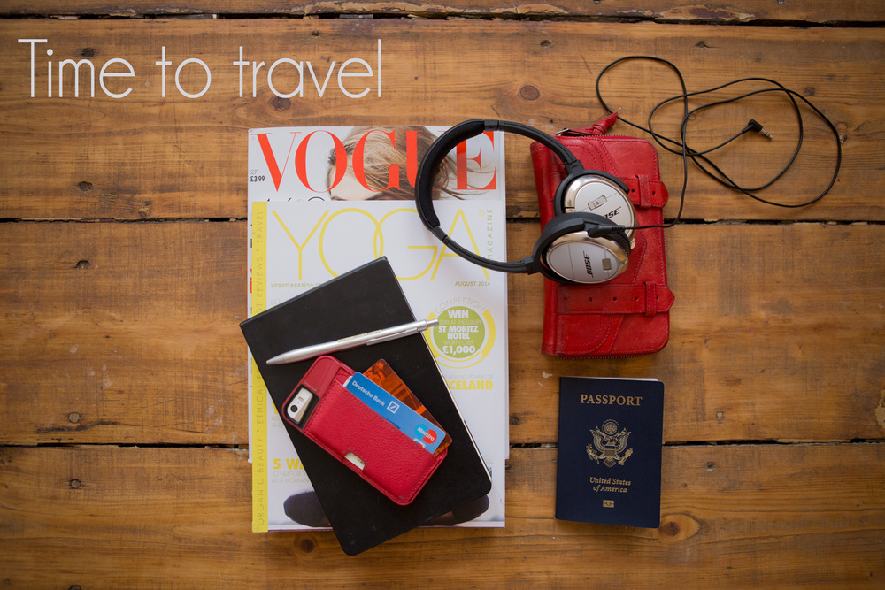 What's in my carry on: magazines, notebook, favorite pen, phone (with card holder case!  similar ),  wallet ,  headphones , passport