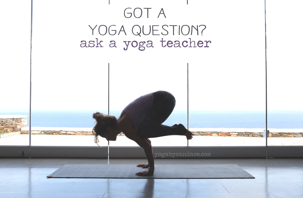 Pin it and ask your yoga questions on this blog. Wearing: Wellicious tank and pants.