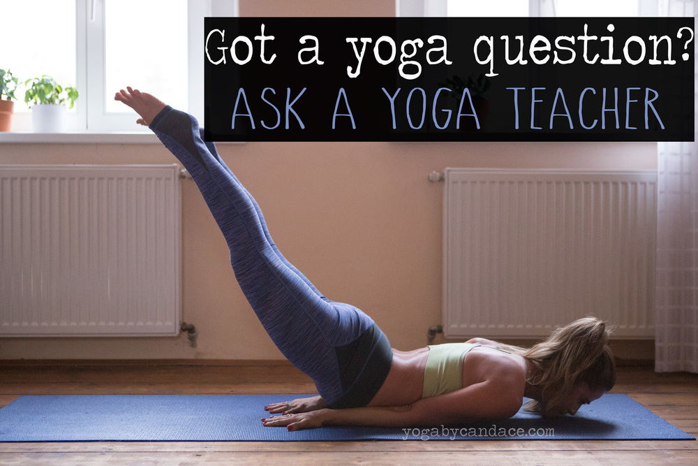 Pin now and join the Yoga Forum to ask your yoga questions!  Wearing:  Sweaty Betty leggings  c/o, c9 bra