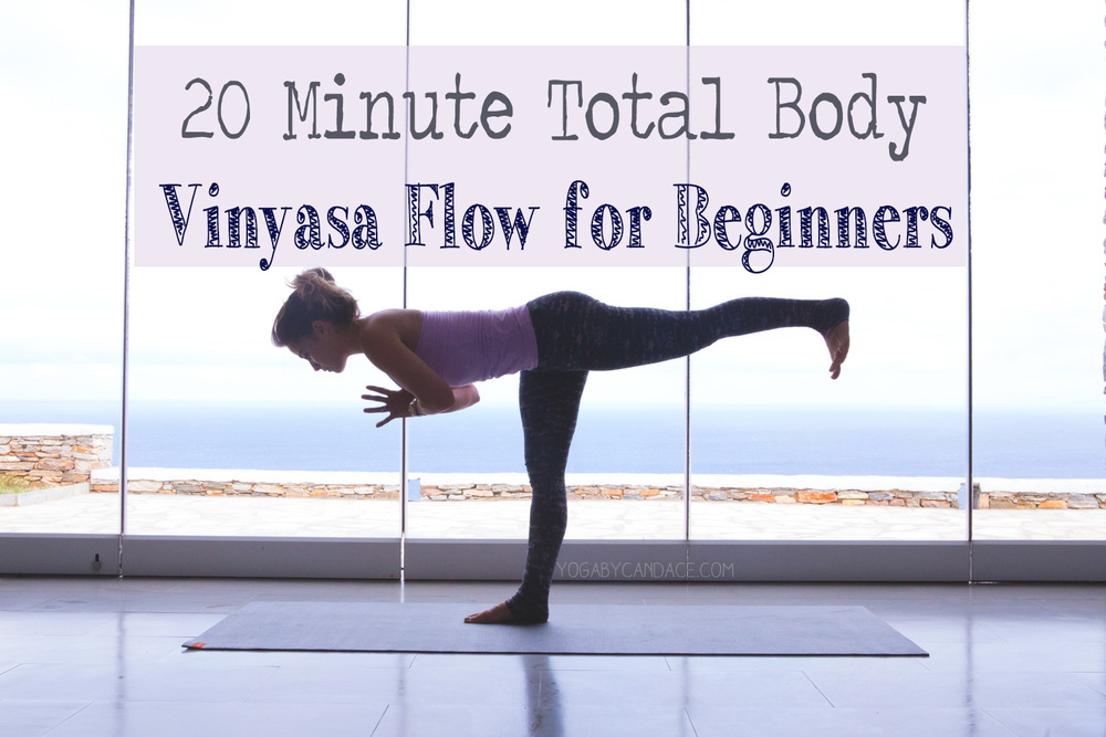 Pin now, practice later! A 20 min instructional vinyasa flow for beginners.   Wearing:   Wellicious tank   and   pants  .
