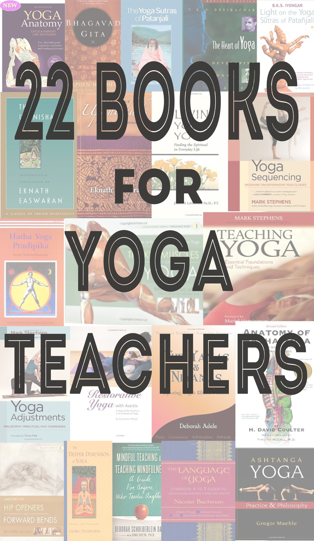 Pin now, and browse the titles later! 22 Books for Yoga Teachers