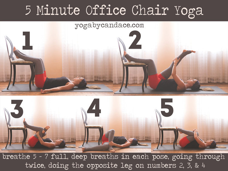 5 minute office chair yoga — yogabycandace
