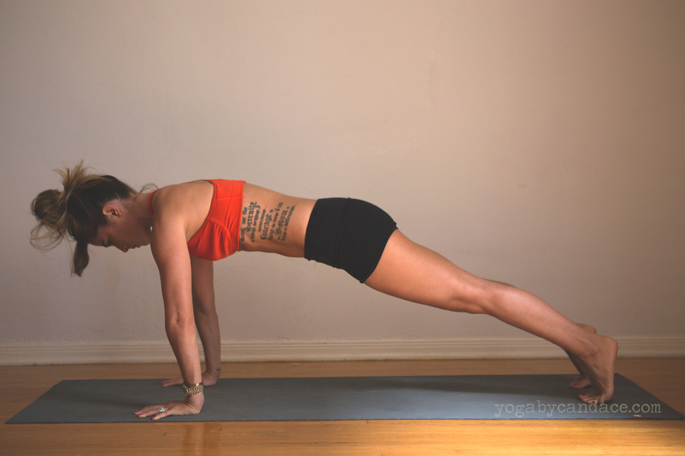 Wearing: Lululemon shorts. Using Manduka mat.