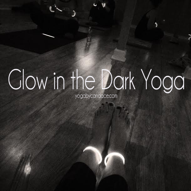 Glow in the dark yoga class  Using:  LumiStick glowsticks