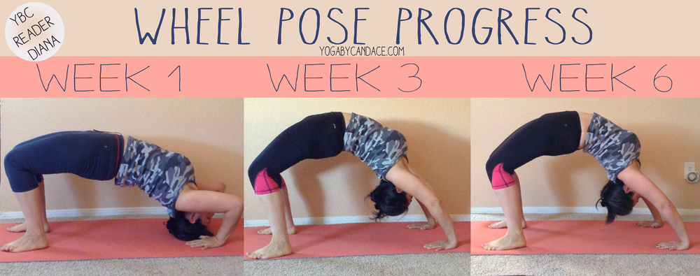 6 week wheel pose progress picture