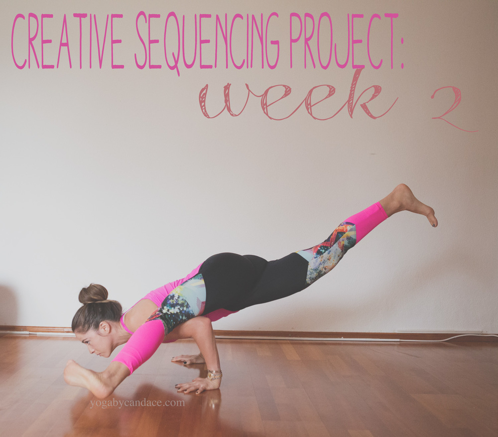 Pin it and join in on the creative yoga sequencing project!   Wearing:  ensue pants  c/o,  lululemon top .