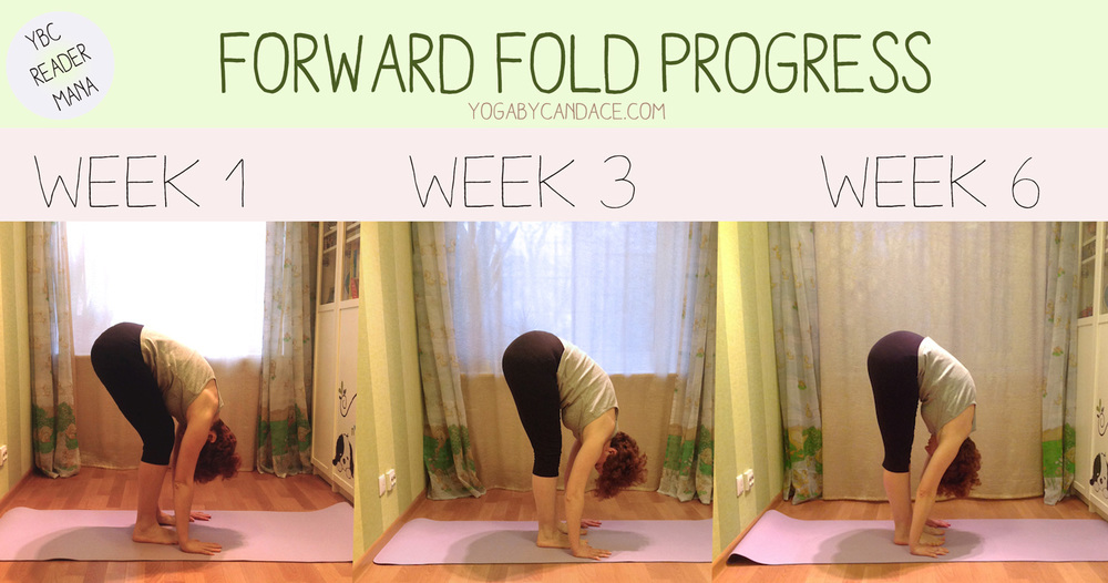 6 week forward fold progress picture