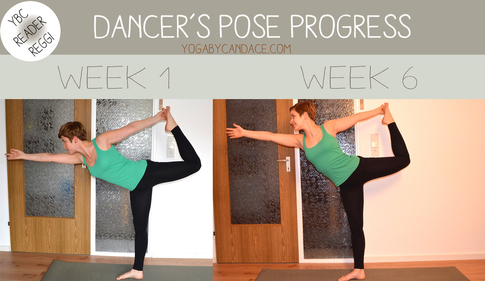 6 week dancer's pose progress