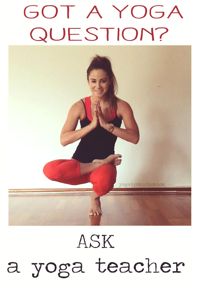 Pin it and ask your yoga questions on the blog or the Yoga Forum  Wearing: Athleta pants ( diff color ),  alo bra .