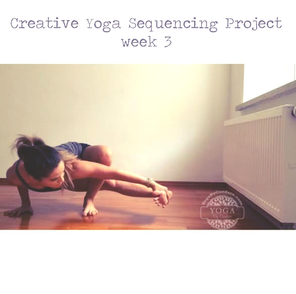 Join in on the creative yoga sequencing project!  Wearing: Lululemon shorts.