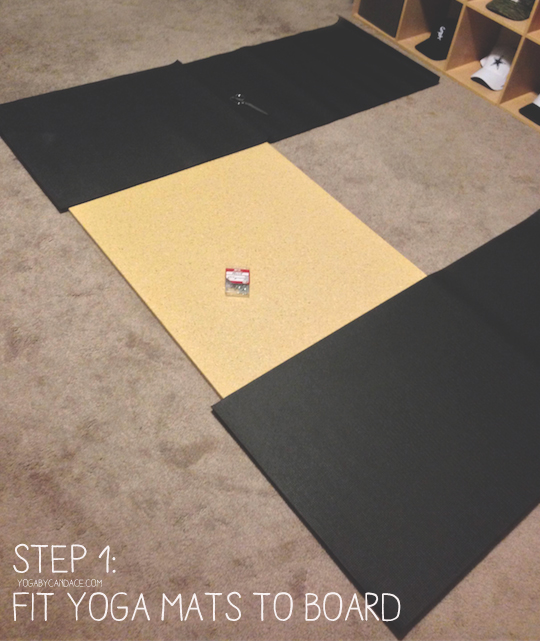 Pin it! Make a hard surface so you can practice yoga on carpeted floors.