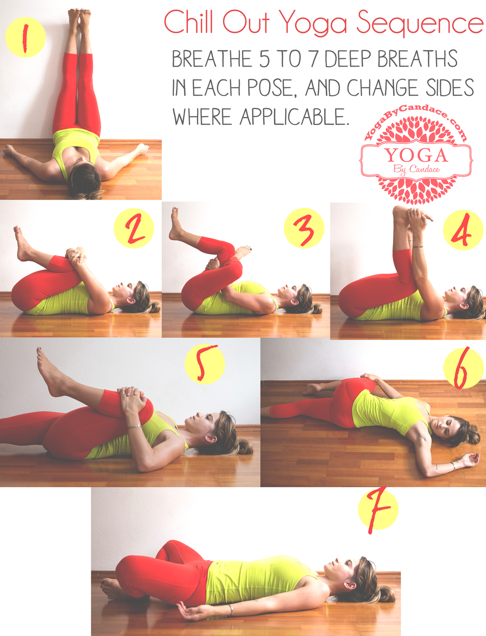 Pin now, practice later! A calming yoga sequence.  Wearing:  Athleta pants ,  Lululemon tank .