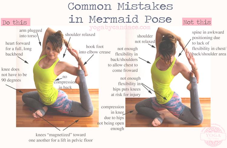 Common Mistakes In Mermaid Pose Wearing Lululemon Tank