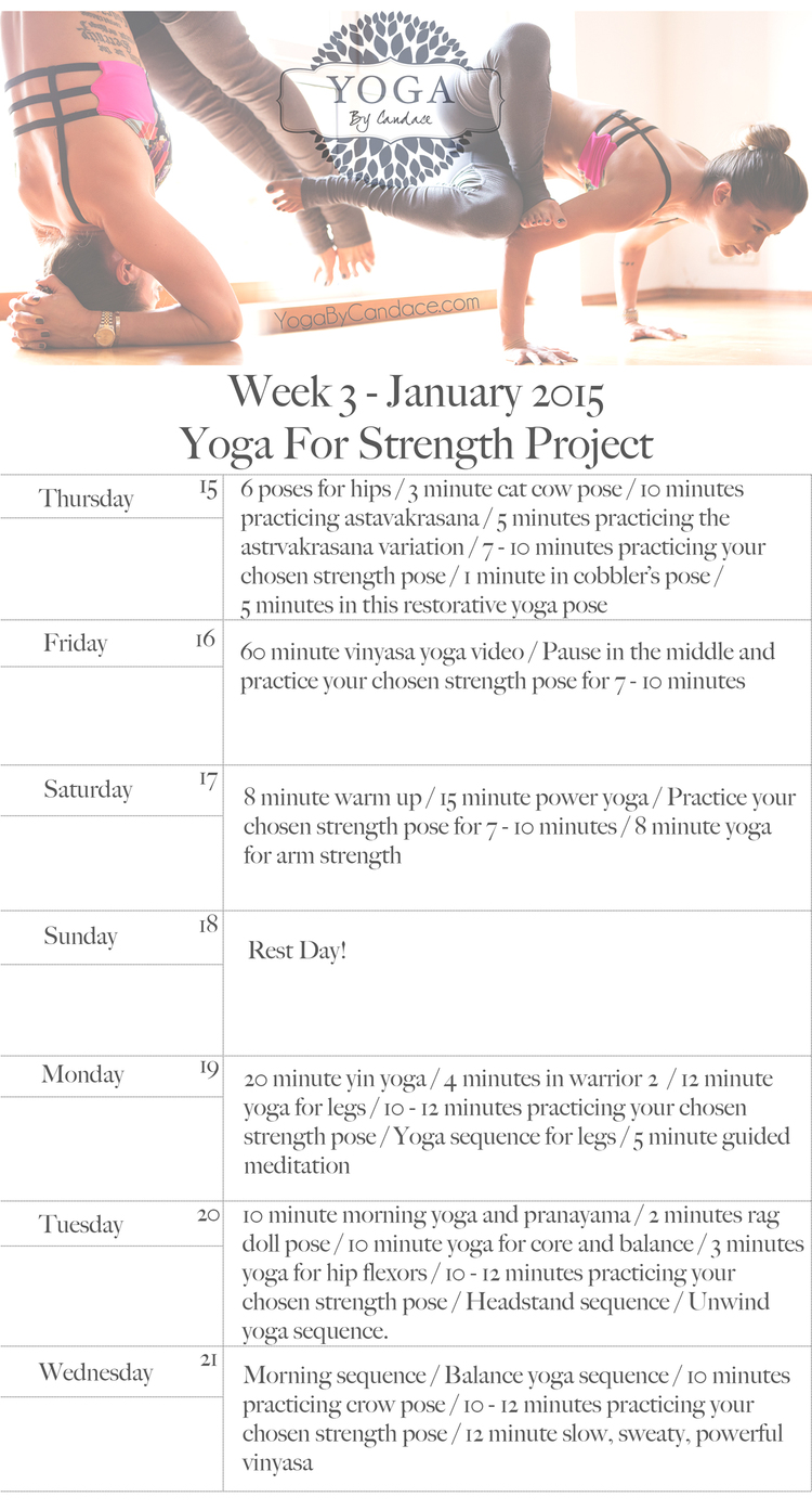 Yoga Strength Project Week 3