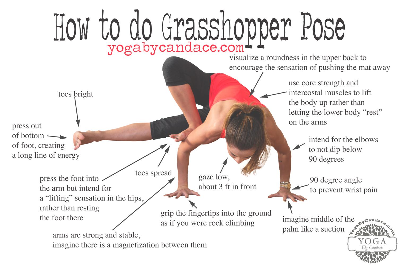How to do Grasshopper Pose — YOGABYCANDACE