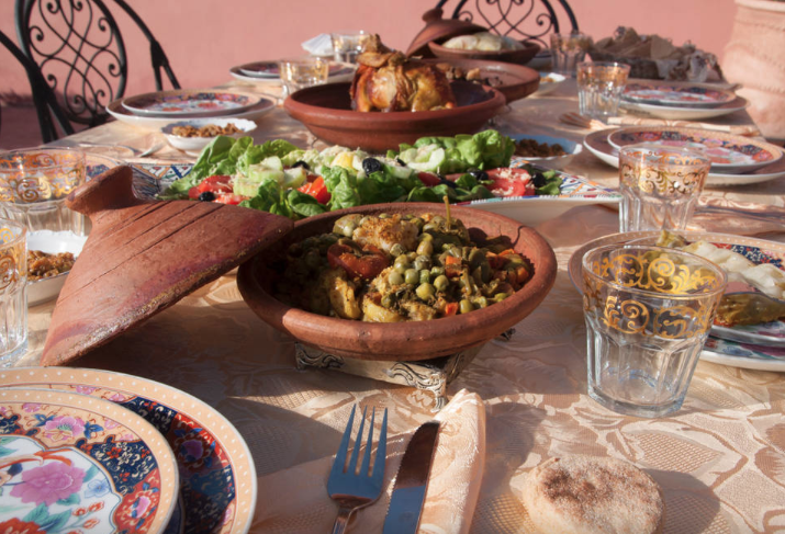 Authentic Moroccan cuisine - vegetarian diets can be accommodated