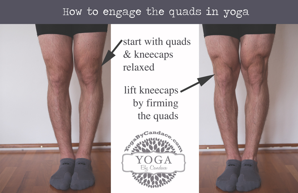 Pin now, practice later! How to engage quads for yoga.  Wearing:  lululemon boxers ,  lululemon socks