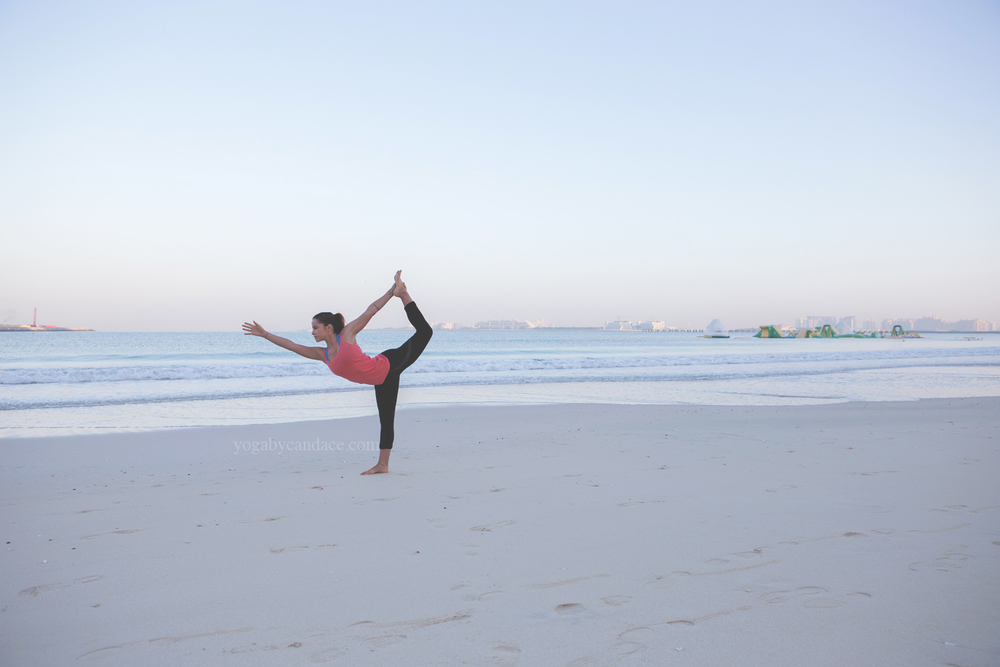 Jumeirah Beach Wearing: alala leggings (similar), tank (similar on super sale)