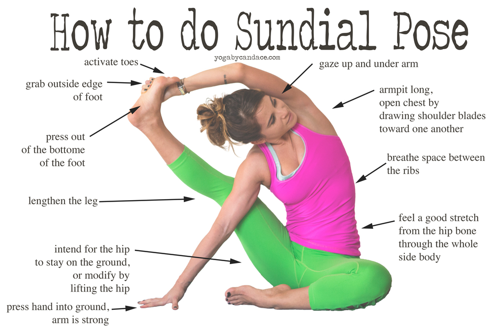 Pin now, practice sundial pose later!   Wearing:  Kira Grace pants , lululemon top ( similar ),  polish