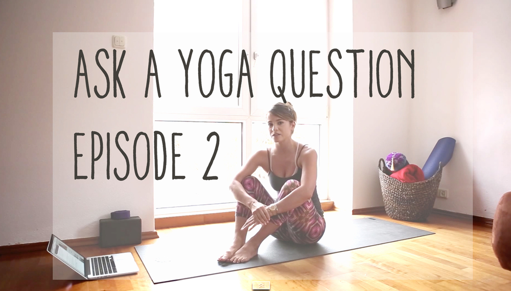 Answering reader yoga questions on the blog!   Wearing:  koral activewear leggings , hard tail bra ( on sale in black ),  f21 tank .  Using:  Wellicious divine mat .
