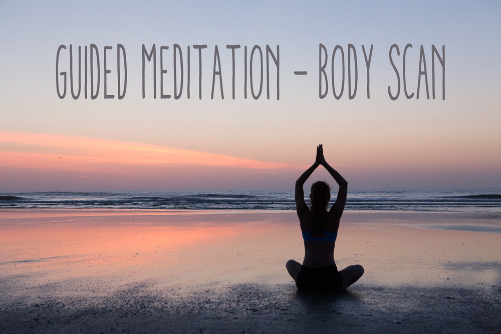 Pin now, practice later - guided meditation body scan to reduce stress.
