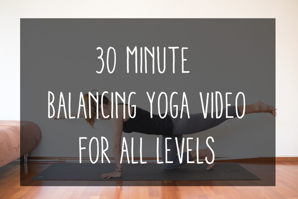 Pin now, practice yoga later! 30 Min Balance Yoga Video Wearing: wunder unders, f21 tank.