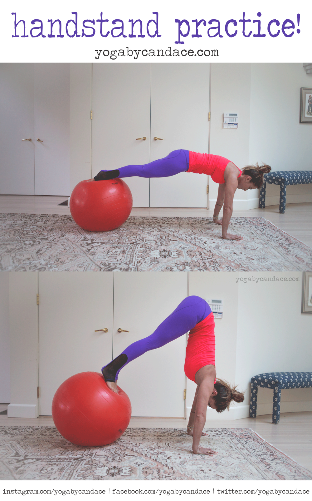 Wearing:  nina b roze pants , sweaty betty tank. Using:  stability ball  .