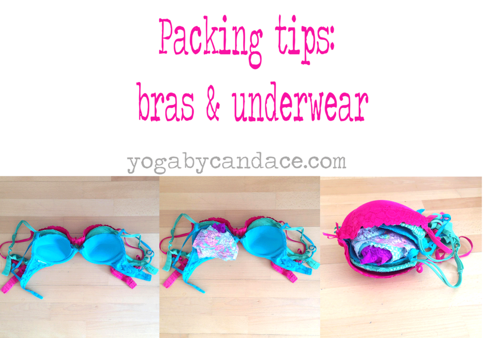 Pin now, pack later Bras & underwear.