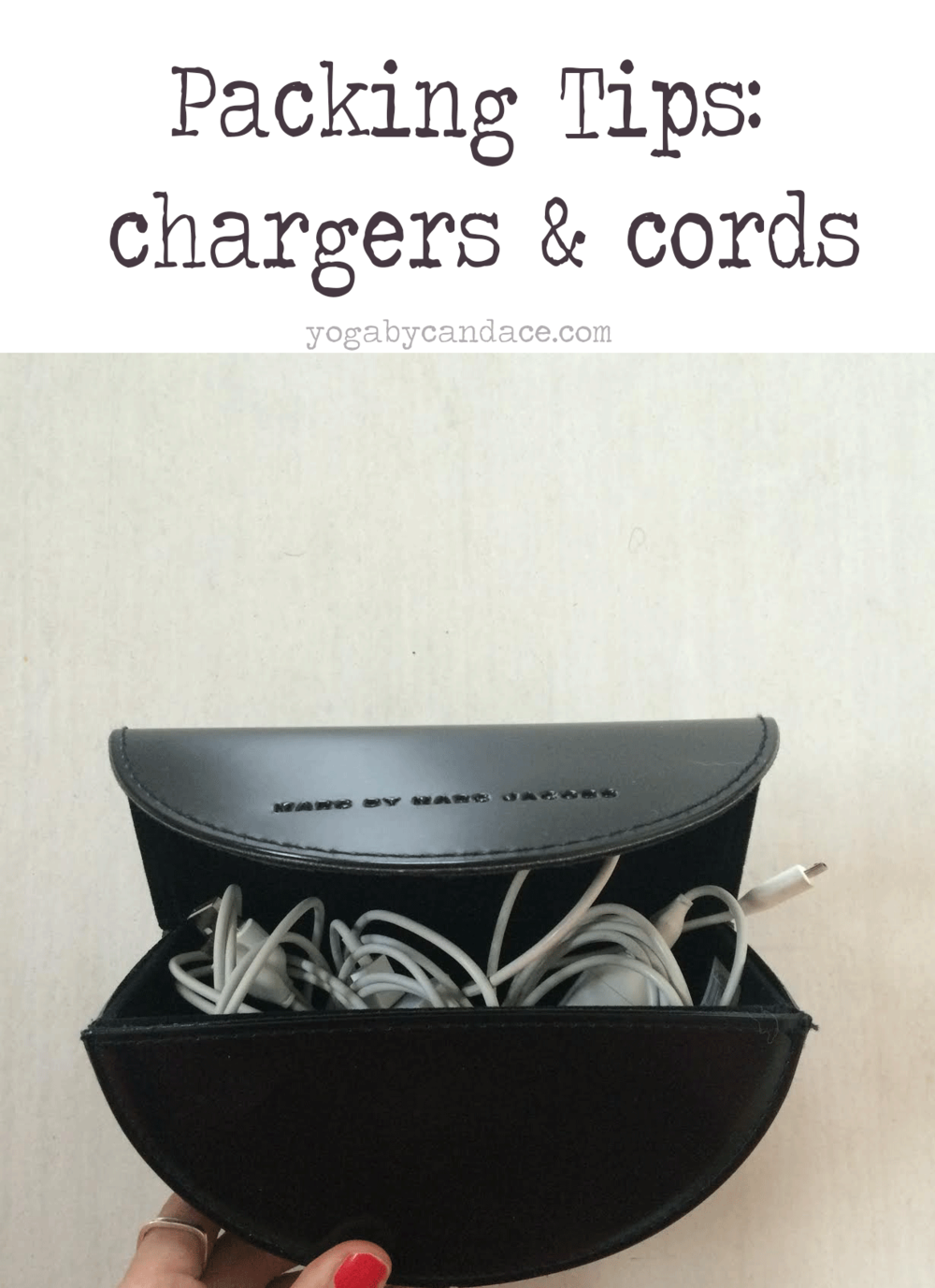 Packing tips for your chargers