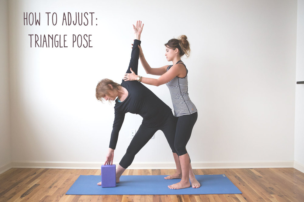 Pin now, practice later - how to adjust triangle pose