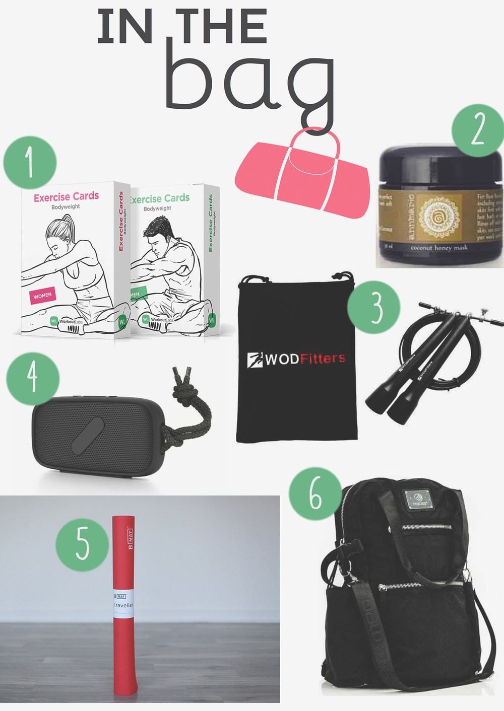 Pin in and win it!  Gear for a great workout on the road