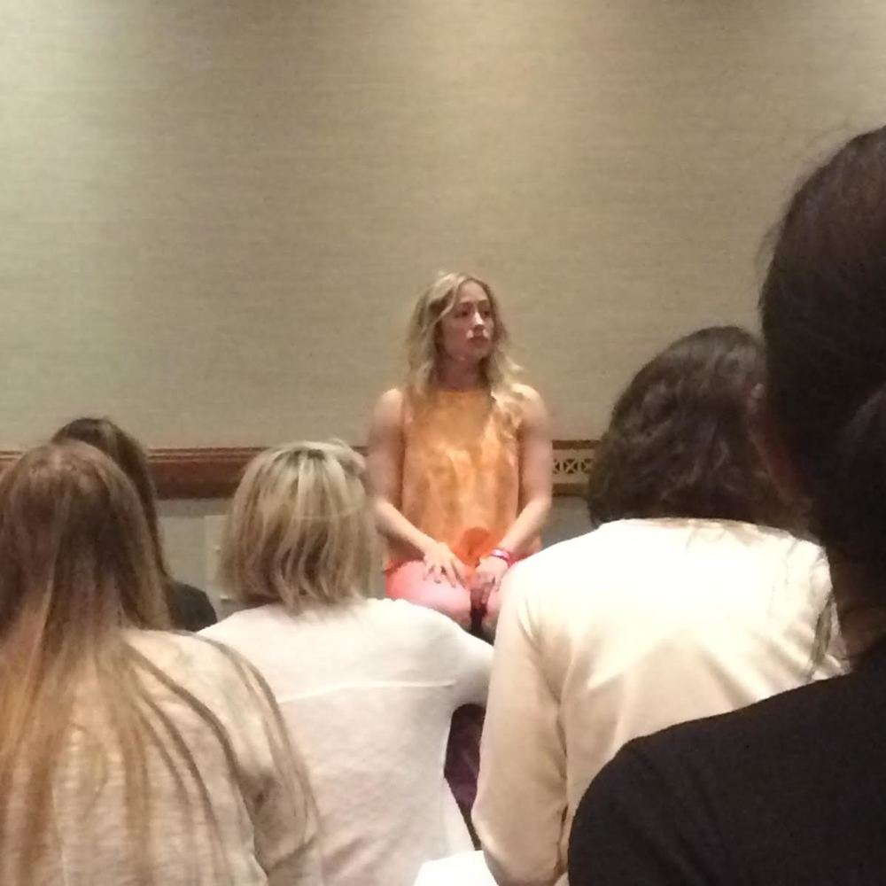 Kathryn Budig at Yoga Journal Conference in NYC
