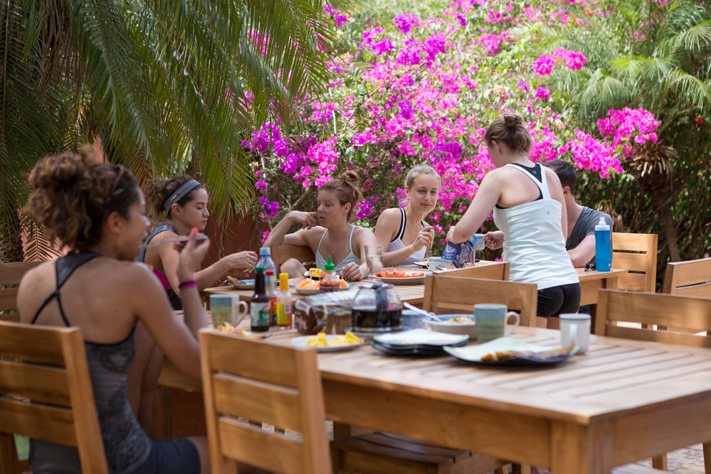 Breakfast at our beach venue