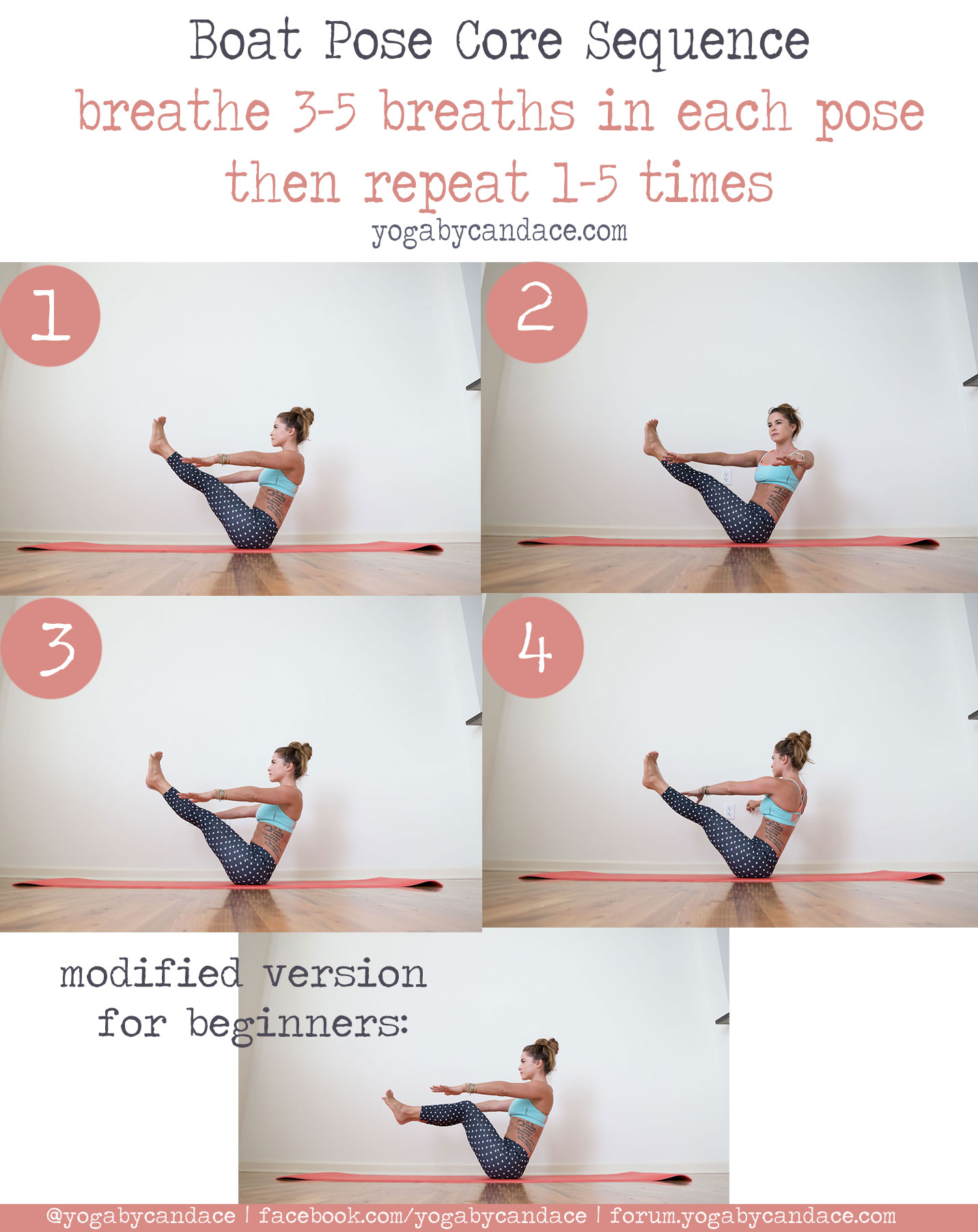 Core Strengthening Boat Pose Sequence Yogabycandace