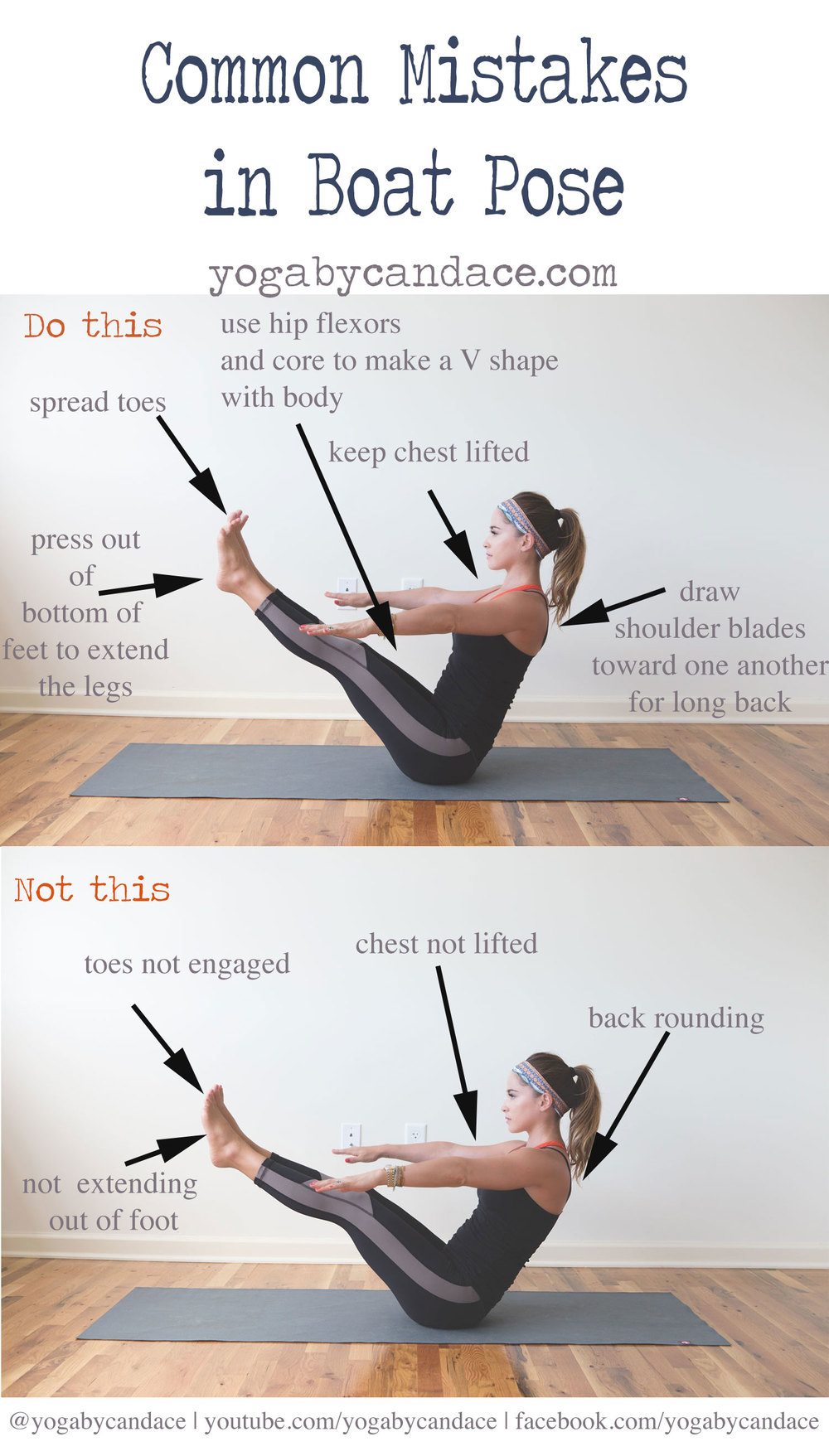Common Mistakes In Boat Pose Yogabycandace