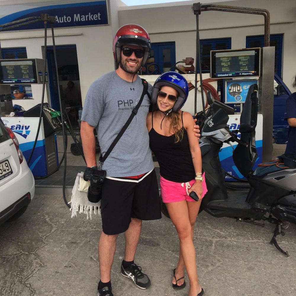 At the gas station - a memorable moment!