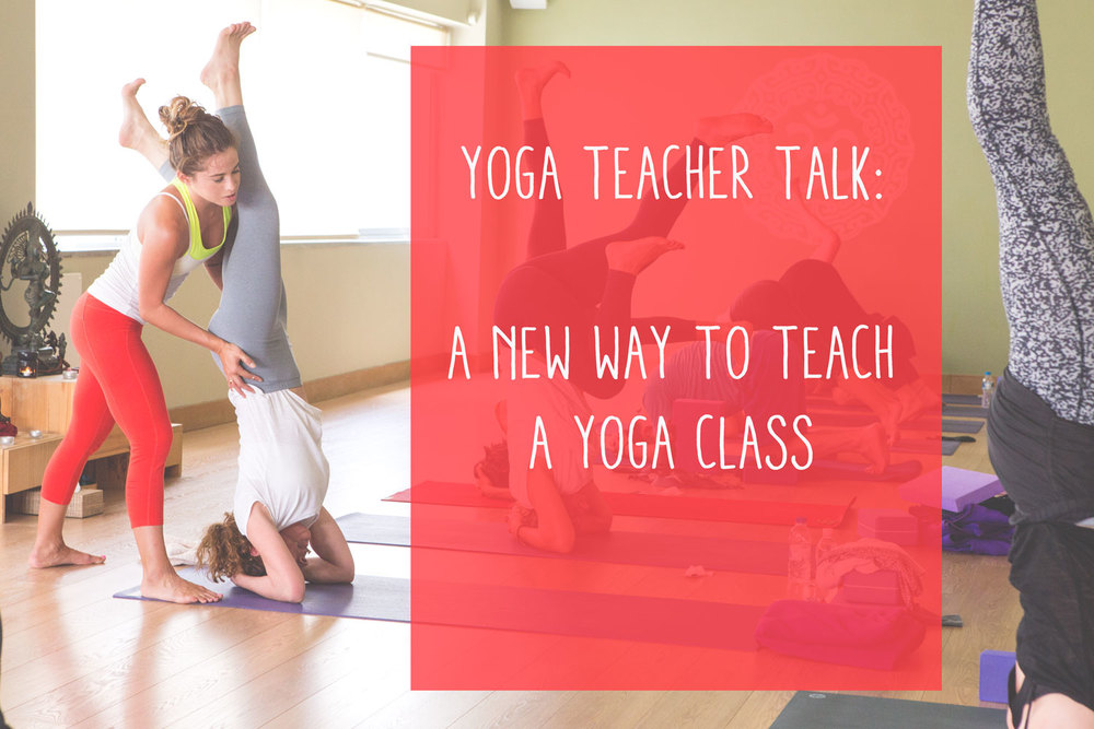 Pin now, read later! Yoga Teacher Talk: a new way to teach a yoga class  Wearing: athleta capris (sold out,  similar )