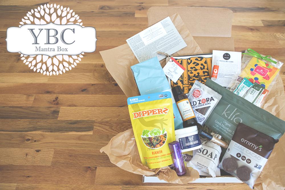 Healthy living subscription box: YBC Mantra Box