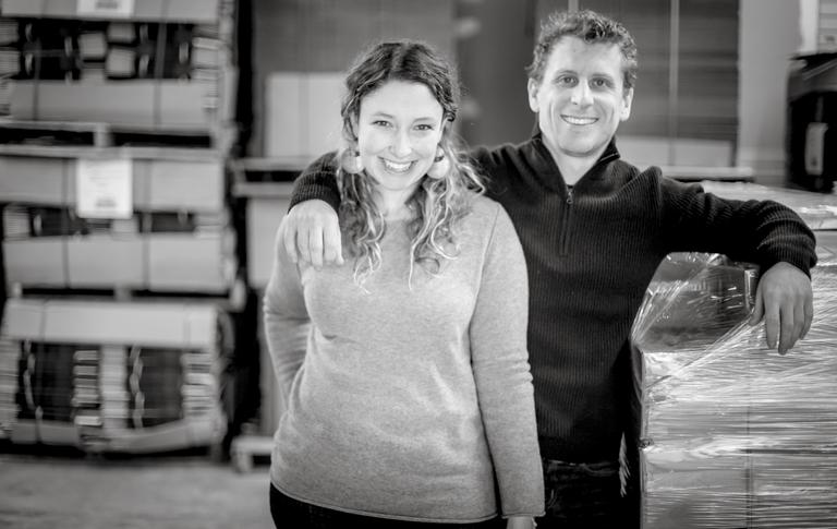Emmy's Organics foundersSamantha Abrams &Ian Gaffney