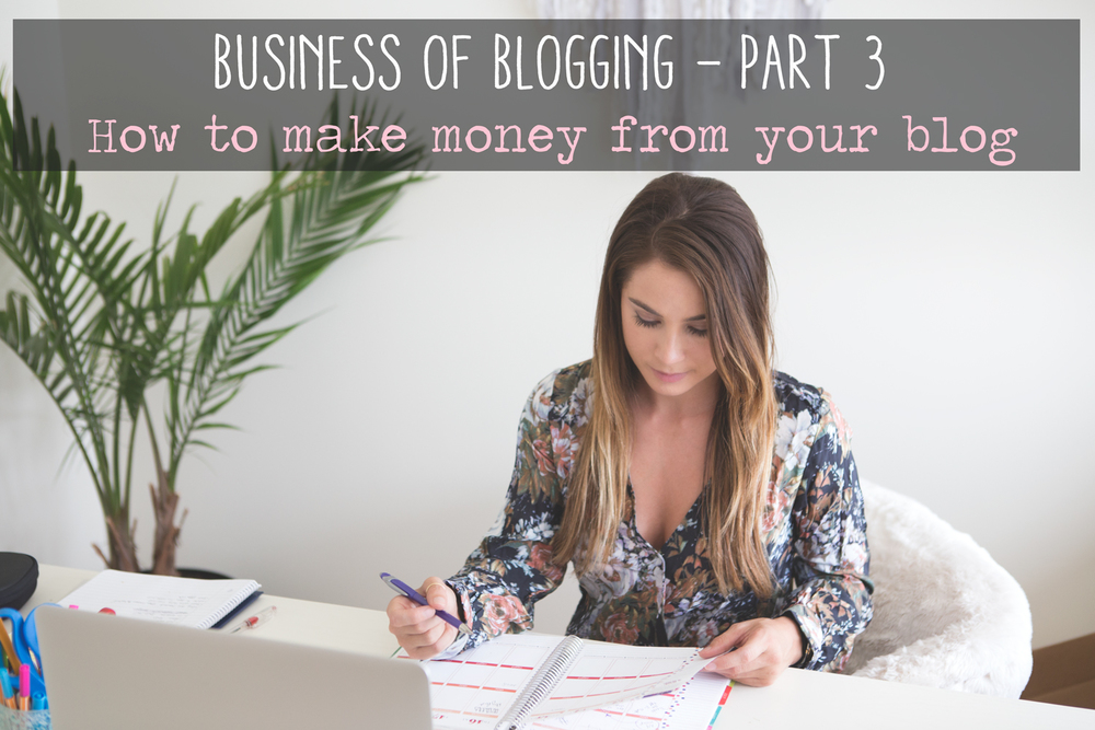 Pin now, read later! Business of Blogging - How to make money from your blog.  Wearing:  Blue Life romper  also seen  here .