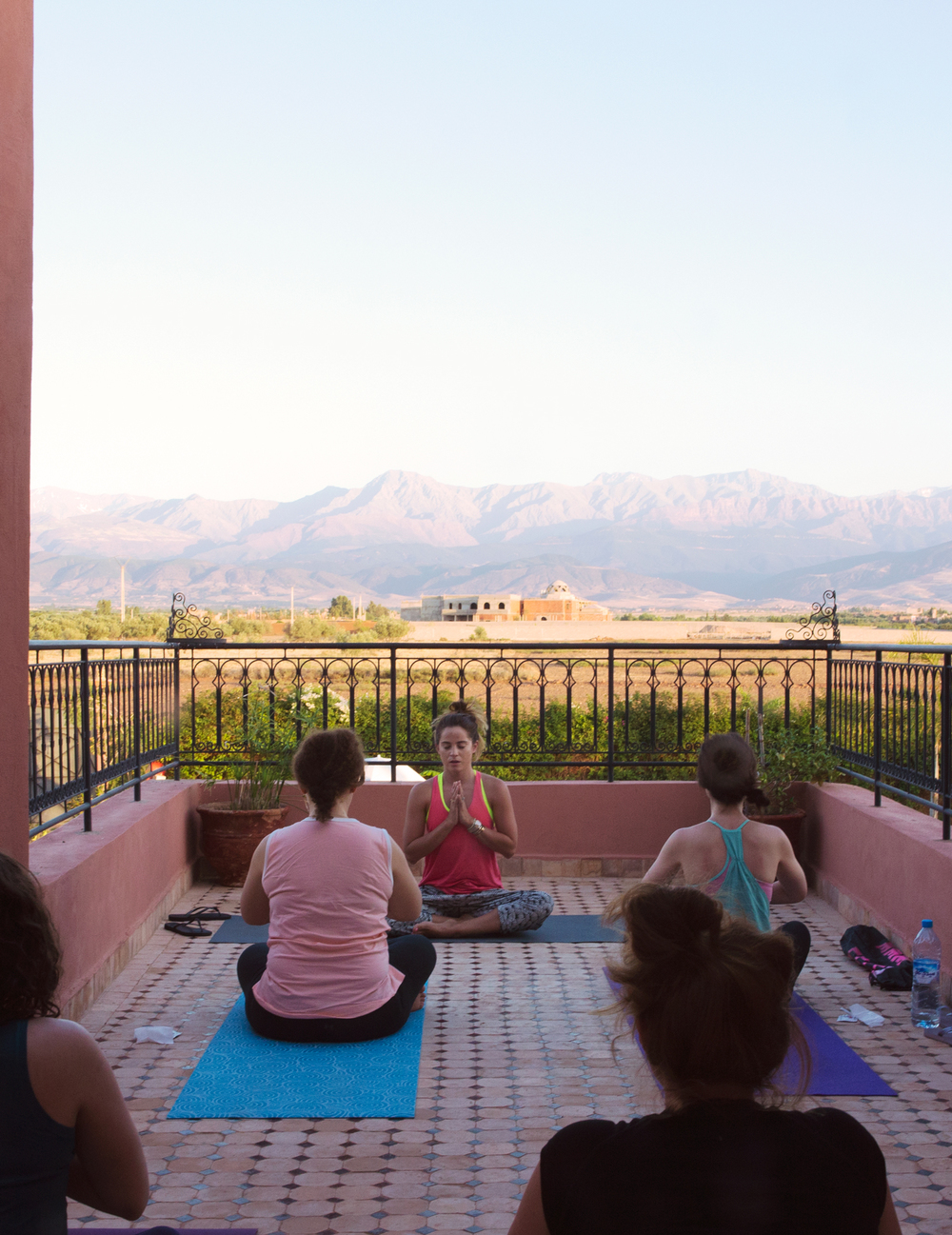 Last class at our retreat in Morocco.  Wearing:  sweaty betty pants  (now on sale!),  tank ,  bra .