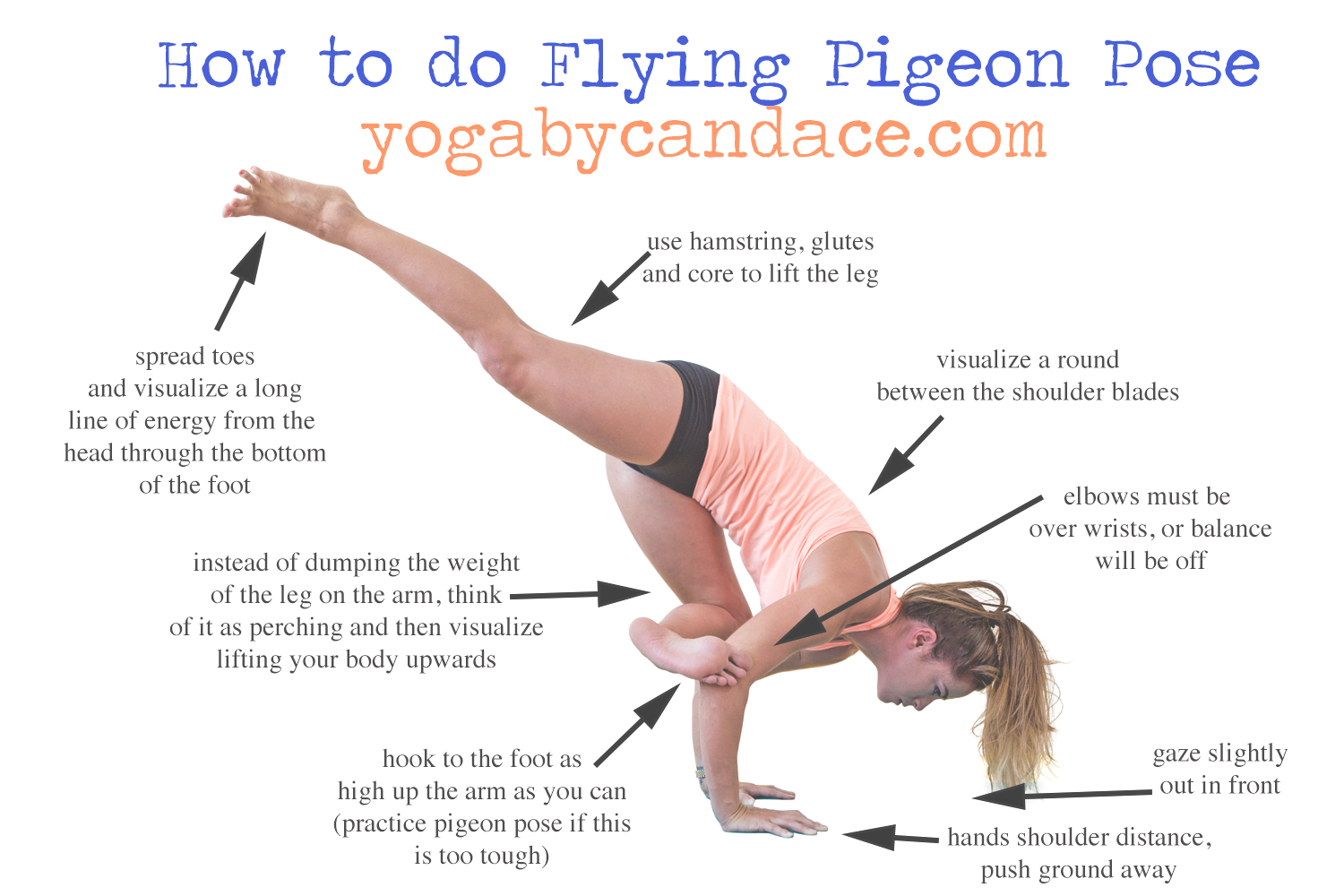 08af1aa667 How to do Flying Pigeon Pose — YOGABYCANDACE